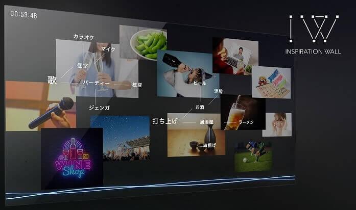 """インスピレーションAI が会話を独自アルゴリズムで分析し、""""ミーティング・サイレンス""""を解消 アイデア発想支援ツール 「Inspiration Wa ll」を発表 ~2020 年 8 月、「渋谷キューズ(東京・渋谷)」にて展示予定 ~"""